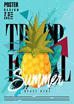 菠萝夏季海报