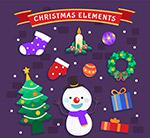 彩色圣诞节元素