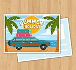 度假沙滩明信片