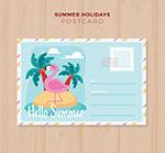 夏季假期明信片