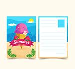 夏季冰淇淋明信片