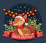 圣诞节微笑驯鹿