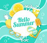夏季元素框架
