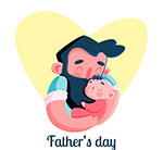 父亲节怀抱婴儿