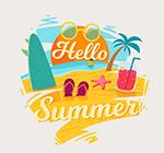夏季沙滩艺术字