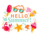夏季元素艺术字