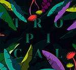 树叶热带艺术字