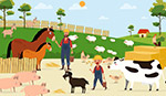 农场农夫和家畜