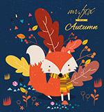 创意秋季狐狸