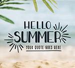沙滩你好夏季海报