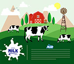 新鲜奶产品海报