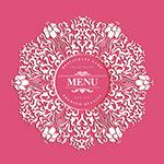 花纹餐馆菜单封面