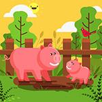 卡通农场猪