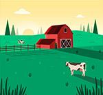 绿色农场风景