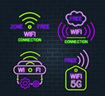 紫色无线网络标志