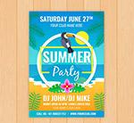 夏季海边派对传单