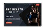 健身女子网站登陆页