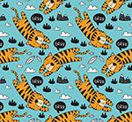 老虎无缝背景