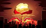 城市爆炸蘑菇云