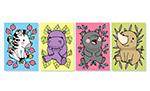 四季动物卡片