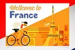 彩色法国明信片
