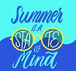 夏季艺术字海报