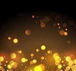 金色圆形光点