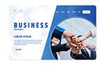 商务人物网站登陆页