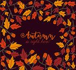 秋季树叶和果实框架