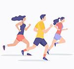 跑步健身男女