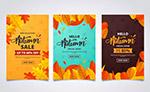 秋季树叶促销卡片