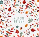 彩色清新秋季树叶