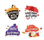 秋季艺术字标签