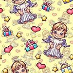 天使和礼盒背景