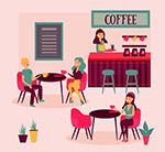 咖啡馆人物