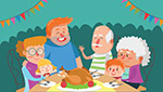 聚餐的大家庭
