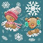 卡通冬季熊矢量