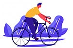 创意骑单车人物