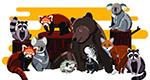 卡通野生动物