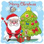 圣诞树和圣诞老人