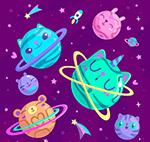 太阳系表情行星