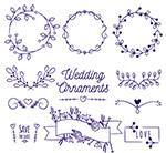 婚礼花纹花边