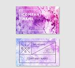 紫色商务名片