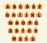 橙色南瓜字母