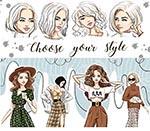 时尚模特插画