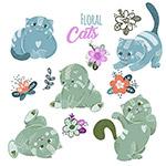 卡通可爱猫