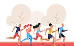 创意跑步人物