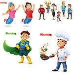 厨师与超人卡通人物