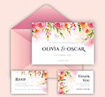 婚礼邀请卡和信封