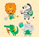 彩色校园动物